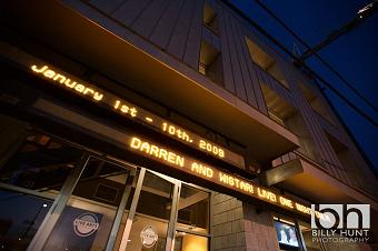 Marquee over Live Arts - Photo by Billy Hunt