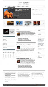 Screenshot of Dispatch WordPress theme